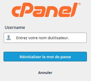 cPanel : nom d'utilisateur