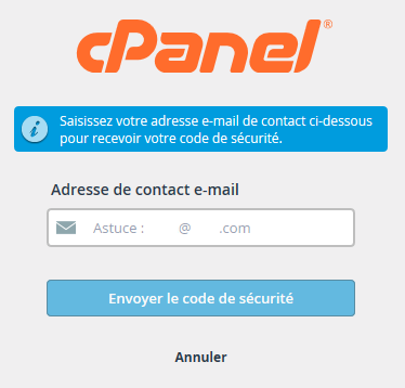 cPanel : adresse e-mail