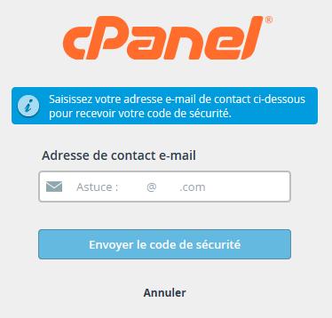 cPanel : adresse e-mail