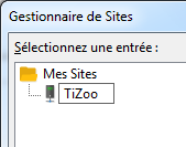 FileZilla : Menu fichier