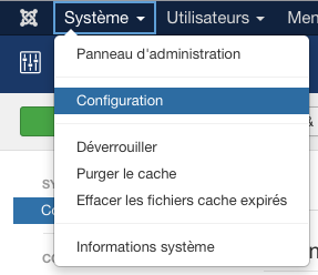 Joomla : configuration
