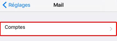 Accédez à un compte e-mail sous iOS / iPhone