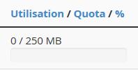 Vérification du quota d'un compte e-mail