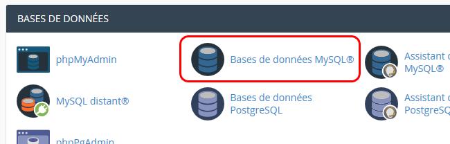 Créer une base de données, BDD, DB